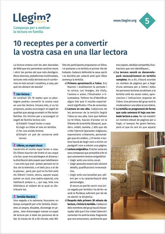 5. 10 receptes per a convertir la vostra casa en una llar lectora