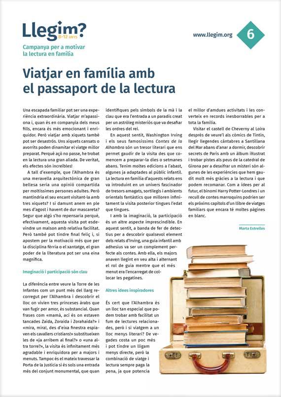 Viatjar en família amb el passaport de la lectura