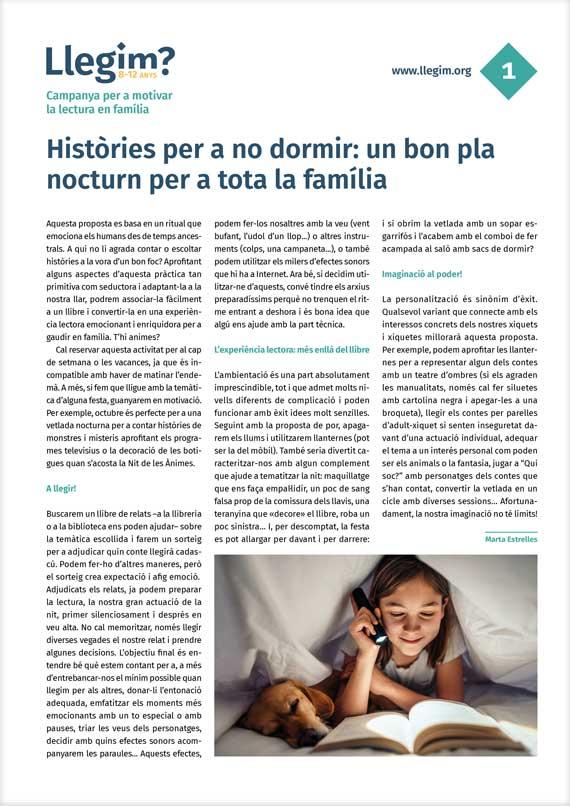 Històries per a no dormir: un bon pla nocturn per a tota la família